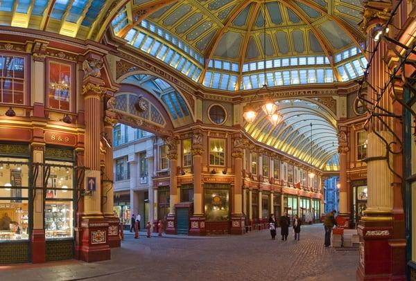 O vitoriano Leadenhall Market está no coração de Londres