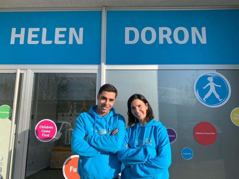 A Sónia e o Fábio abraçam o desafio do Centro de Inglês Helen Doron Guimarães
