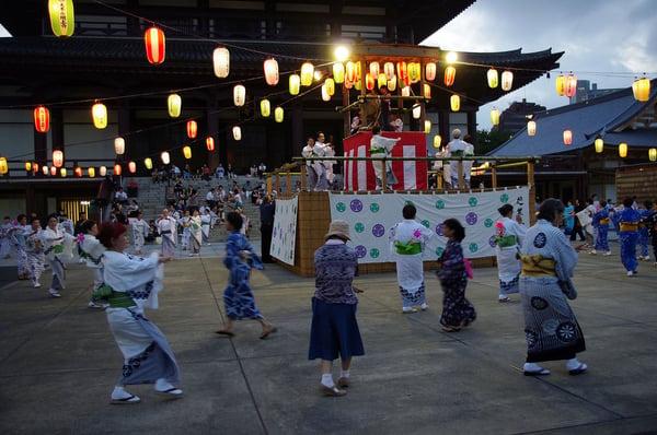 Festival Bon-Odori (Zōjō-ji) em Tóquio